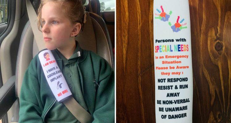 Secours - une housse de ceinture pour informer d'un handicap
