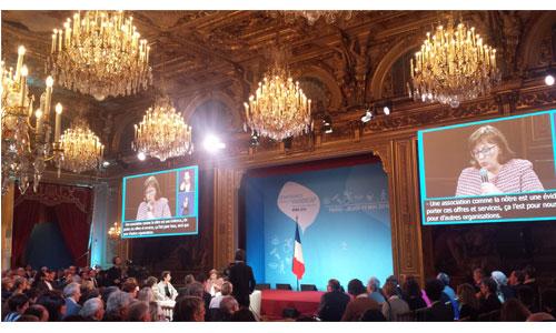 Macron préside la conférence nationale du handicap