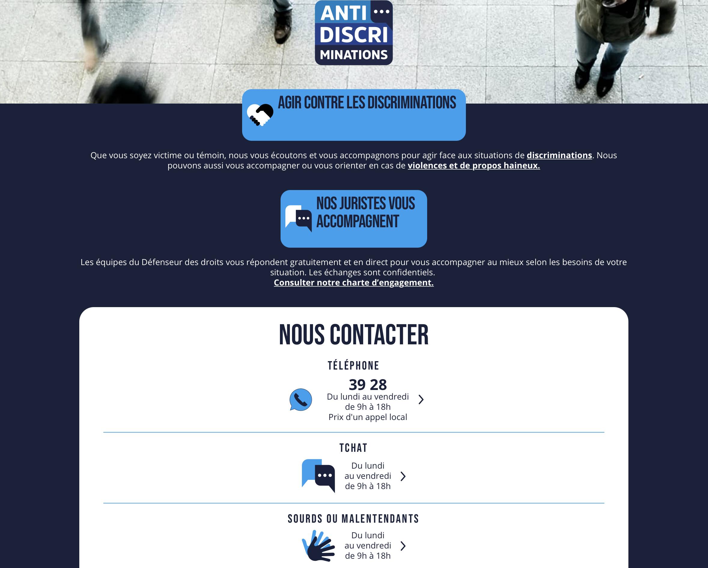 Read more about the article Défenseur droits : un site de signalement antidiscrimination